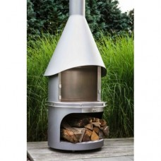 terrasverwarming hades fireplace M  95diam h 235cm inox